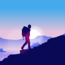 hikinguphillimage